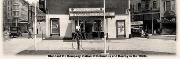 Standard Oil Station in San Francisco during the 1920s