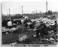 Depression-era Hooverville at Oakland - Photo by Imogen Cunningham