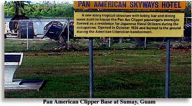 Photo of site of Pan-American Skyways Hotel at Sumay Guam 1936-1944