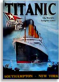 Lithograph of the R.M.S. Titanic