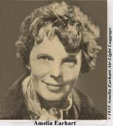 Photo of Amelia Earhart ©1935 Amelia Earhart Air-Light Luggage