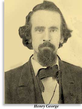 Photograph of Henry George as a young man