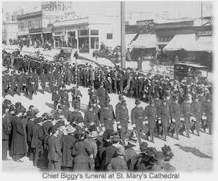 funeral for Chief Biggy at St. Mary's Cathedral
