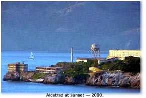 Photograph of Alcatraz at Sunset